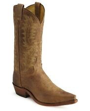 Tony Lama Men's Saigets Worn Goat Cowboy Western Leather Boots Gold/Tan 6979