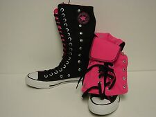 NEW Womens CONVERSE 131281C Snapdown XHI Black Neon Pink Boots Sneakers Shoes