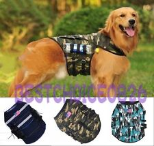 New 3 Colors Outward Hound Saddle Bags Large Dog Vest Travel Hiking Backpacks