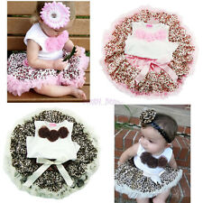 Baby Girls 2Pc Top+Skirt Set Leopard Kid Tutu Dress Outfit Costume Clothes 2T-4T