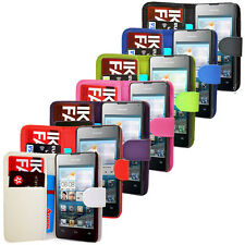 FOR HUAWEI ASCEND U8833 Y300 PU LEATHER WALLET FLIP CASE COVER
