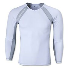 Linebreak Long Sleeve Compression Tee  White/Silver *FREE SHIPPING*