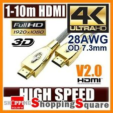 4K Ultra HD Premium HDMI Cable V2.0 Gold Plated 3D High Speed Ethernet 1m ~ 20m
