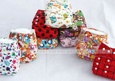 HOT Baby Infant Printed Cloth Diapers Reusable Nappy Washable Snap Nappy Inserts