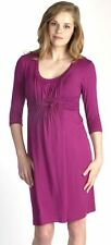 New JAPANESE WEEKEND Maternity Nursing Pink Basket Weave Career DRESS $118