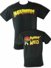 Hulk Hogan Running Wild Hulkamania Mens Black T-shirt