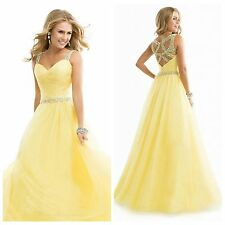 2014 New Sexy Long Chiffon Evening Formal Party Wedding Prom Dress Ball Gowns