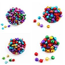 Colorful Aluminum Loose Beads Christmas Jingle Bells Pendants Charms