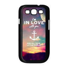 Anchor Love the Life You Live Quote For Samsung Galaxy S3 I9300 Hard Case Cover