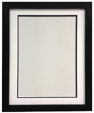 H7 Black MDF Picture Photo Frame With Black White and Ivory Double Bevel Mounts