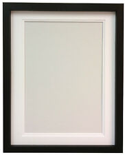 RIO Black MDF Picture Photo Frame With Black,White and Ivory Double Mounts