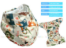 Washable Baby Infant Printed Real Cloth Diaper One Size Reusable Nappy Inserts