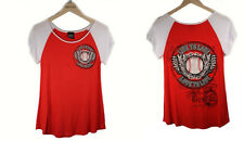 NEW DESIGN KATYDID RED WHITE BASEBALL WINGS SHIRT LIVE TO LOVE SHIPPING M L XL