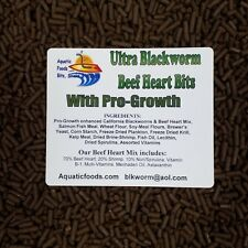 """Blackworm/Beef Heart Mix """" Bits"""" for Discus, Cichlids, All types of Fish"""