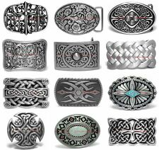 SBUM0308 CELTIC CROSS SHIELD ENDLESS KNOT FLORAL TOTEM TRIBAL ART BELT BUCKLE