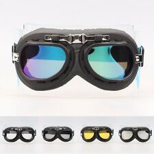 Aviator Pilot Cruiser Cycling Bicycle Motorcycle Goggles Eyewear Black Frame