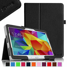 """Fintie Slim Folio Leather Case Stand Cover for Samsung Galaxy Tab 4 10.1"""" Tablet"""