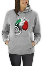 Italy Flag World Cup Skull Women Hoodie Italia football national team soccer fan