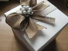 Vintage Lace Wedding Favour - Empty / Filled - Large12cm Gift Box - Personalised