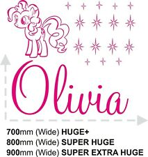 GIRLS NAME My Little Pony Bedroom New Wall Art Decal/Sticker/Stencil