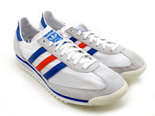 MENS SHOES ADIDAS ORIGINALS SL 72 TRAINERS RETRO WHITE BLUE RED AUTHENTIC L@@K