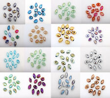 Hot 50Pcs AB Colorful Czech Crystal Glass Spacer Bead Jewelry DIY 8X6MM