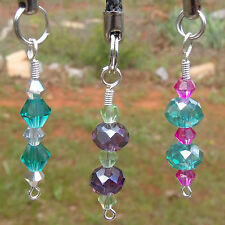 Swarovski Crystal Charm for Cell, Backpack, Purse, Zipper, Makeup Bag, Anywhere!