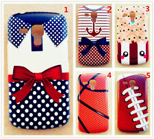 Hard plastic basketball cute bowknot print back case cover for phones