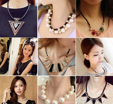 Fashion Women Mixed Colors Bubble Bib Choker Statement Charm Necklace