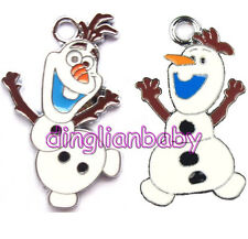 wholesale Disney Frozen olaf snowman Metal Charms Jewelry Making pendants Gifts