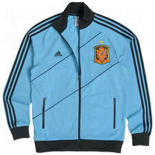 NEW! XL Mens Adidas SPAIN Soccer Track Top Jacket Shirt anthem Football Blue