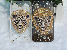 For iPhone4 iPhone4S Cell Phone Case Cover With Cool Leopard Head SK0362
