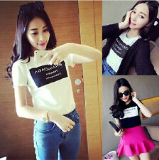 2014 Classical summer Sweet women's fashion slim T-shirt short-sleeve shirt Tops