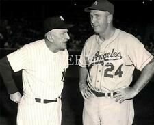 Casey Stengal & Walter Alston Pre Game Chat Yankees Dodgers 8x10 Photo Baseball