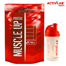 MUSCLE UP PROTEIN 700g - Whey Muscle Mass Growth Gains Bodybuilding FREE SHAKER