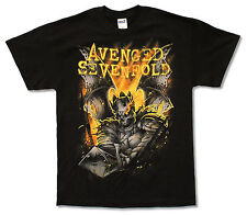 "AVENGED SEVENFOLD ""SHEPHERD OF FIRE 2014 TOUR"" (BC-OH) BLACK T-SHIRT NEW A7X"