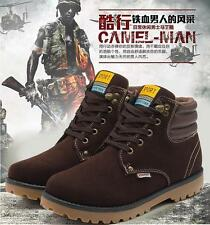 Mens Winter Warm Snow Boots Military High-Top Shoes Faux Leather Ankle Boots