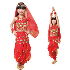 KID's Professional Belly Dance Top & Pant & Belt for Girl