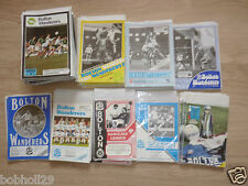 Bolton Home Programmes   1980's. Select from list