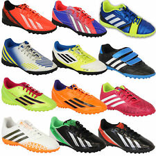 Boys ADIDAS Trainers Kids Football Soccer Astro Turf Shoes Lace Up Mesh Youth
