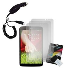 Transparent Screen Protectors & Car Charger for LG G Pad 8.3 V500 Google Play