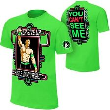 John Cena Kids Lime Green Neon Green Never Give Up Boys T-shirt