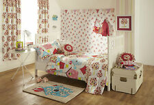 Brand New Childrens/Girls Bird Pink Bedroom Makeover-Duvet Bedding Cushion Rug