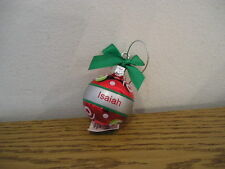 Ganz Personalized Christmas holiday ball ornament red Choose name message M to Z