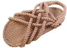 "Handmade ""Classic"" Rope Sandals Unisex Mens 6, Womens 7  - Various Colors"