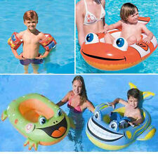 SWIMMING POOL FUN FLOAT BLOW UP INFLATABLE KIDS BEACH TOY DINGY NEMO FROG WHALE