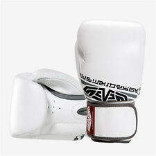 Seven Muay Thai Style Boxing Gloves Sparring Training Workout Bag Gloves White
