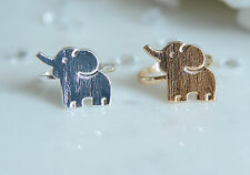 NEW Cute Baby Elephant Ring Knuckle Hipster Stacking Good Luck Ring Silver Gold