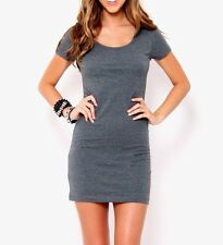 T-SHIRT DRESS MINI FITTED SEXY COUNTRY MIDI BASIC JERSEY CLUB FOREVER 21 STYLE