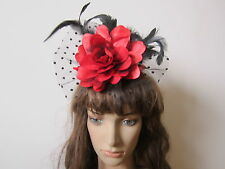Charming Fascinators Mini Top Hat Feather Hair Fascinator, 7 Colors Available!!